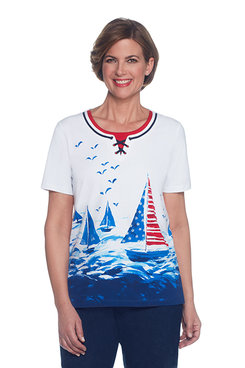 Lady Liberty Sailboat Scenic Top
