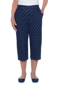 Lady Liberty Star Print Capri