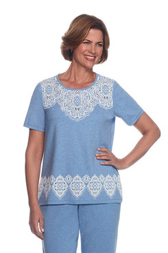 Long Weekend Petite Medallion Border Top