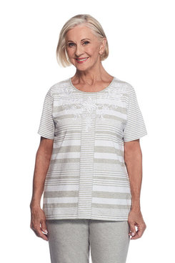Long Weekend Plus Stripe with Shoulder Strapping Top
