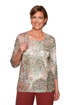Image: Medallion Lace Patch Top