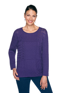 Image: Mixed Stitch Patchwork Sweater