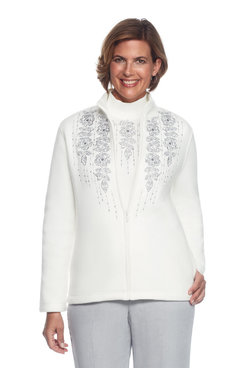 Northern Lights Petite Floral Trellis Embroidery Jacket