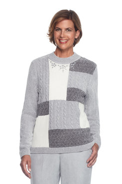 Northern Lights Plus Colorblock Chenille Sweater