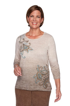 Image: Ombre Embroidery Top