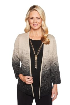 Image: Ombre Shimmer Two for One Sweater