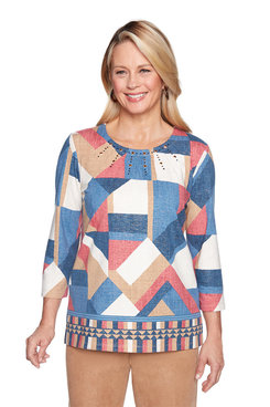 Image: Patchwork Border Top
