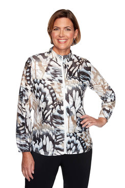 Image: Petite Abstract Butterfly Jacket