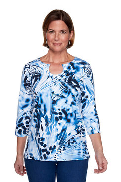 Image: Petite Abstract Butterfly Top