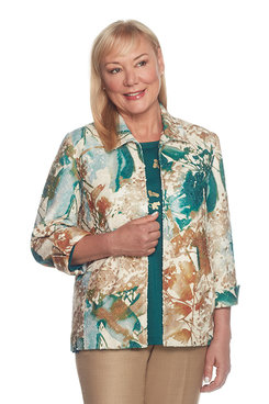 Image: Petite Abstract Floral Jacket