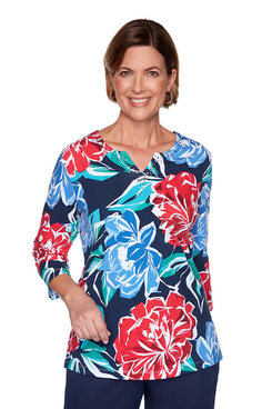 Image: Petite Abstract Flower Top