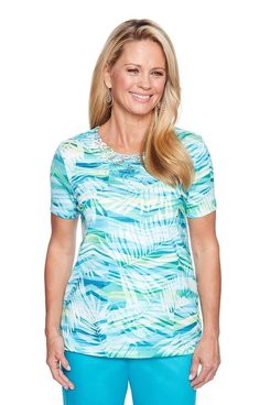 Image: Petite Abstract Leaf Top