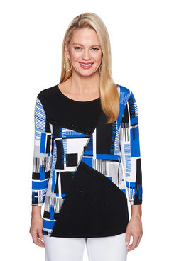 Image: Petite Abstract Spliced Top