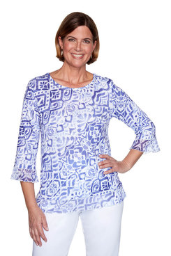 Image: Petite Abstract Top
