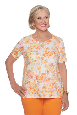 Image: Petite Allover Floral Top