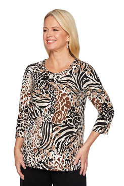Image: Petite Animal Printed Shirt