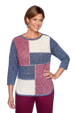 Image: Petite Autumn Colorblock Sweater