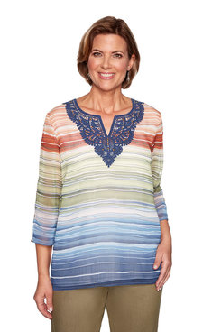 Image: Petite Biadere Woven Top