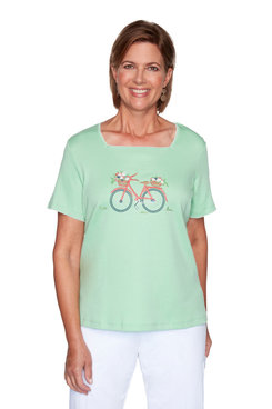 Image: Petite Bicycle Knit Top