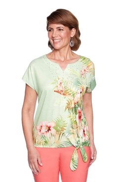 Image: Petite Birds of Paradise Tie Top