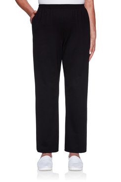 Image: Petite Black French Terry Proportioned Medium Pant