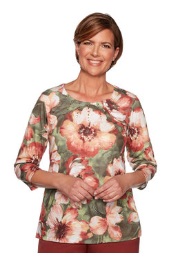 Image: Petite Bold Flowers Top