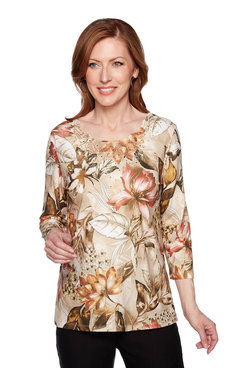 Image: Petite Botanical Flowers Top