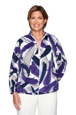 Image: Petite Brushstroke Polar Fleece Jacket
