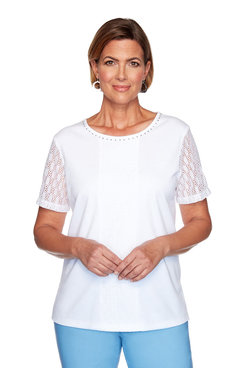 Image: Petite Center Lace Top