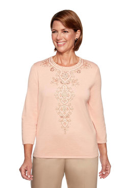 Image: Petite Center Medallion Sweater