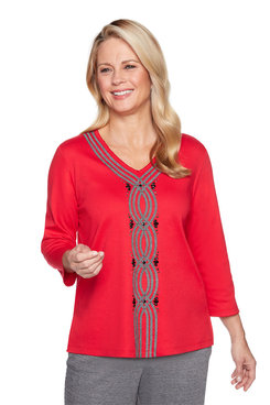 Image: Petite Center Texture Soutache Top