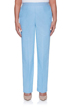 Image: Petite Chambray Proportioned Medium Pant