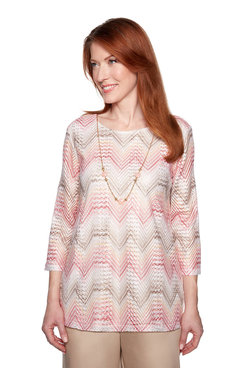 Image: Petite Chevron Top with Necklace