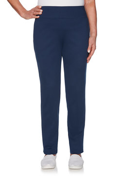 Image: Petite Comfort Waist Proportioned Medium Knit Pant