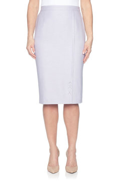 Image: Petite  Diamond Cut Out Skirt