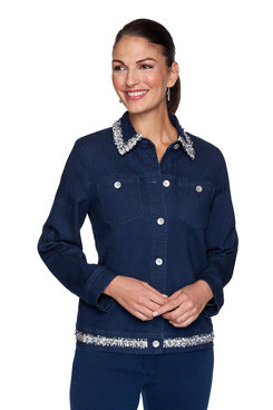 Image: Petite Embellished Denim Jacket