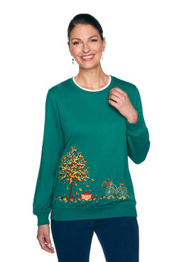 Image: Petite Embroidered Autumn Top