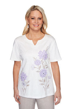 Image: Petite Embroidered Floral Top
