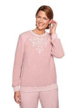 Image: Petite Embroidered Floral Yoke