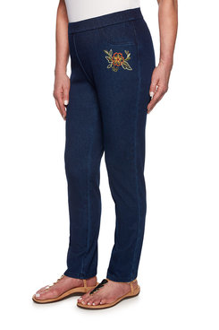 Image: Petite Embroidered Jegging