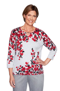 Image: Petite Falling Flowers Sweater