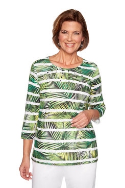 Image: Petite Fern Biadere Knit Top