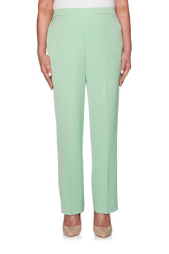 Image: Petite Flat Front Twill Proportioned Medium Pant