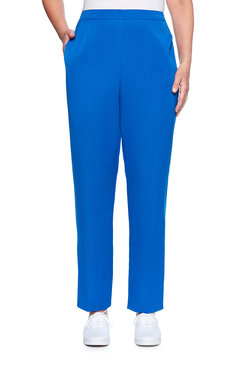 Image: Petite Flatfront Twill Proportioned Medium Pant