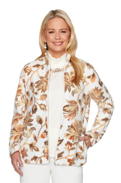 Image: Petite Floral Fleece Jacket