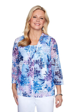 Image: Petite Floral Patch Two-for-One Top