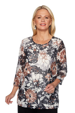 Image: Petite Floral Printed Tunic