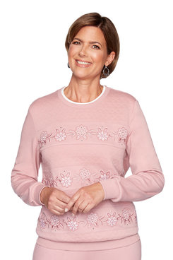 Image: Petite Floral Spliced Biadere Top