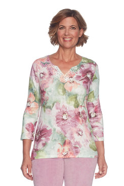 Image: Petite Floral Sweater