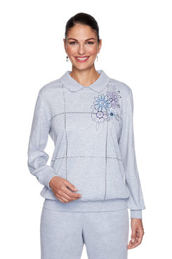 Image: Petite Flower Embroidered Top